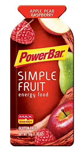 PowerBar Gluten Free Simply Fruit Energy Food, Apple Pear Raspberry, 12 Count