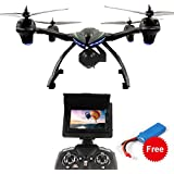 DAZHONG 506G RC FPV Drone with 720P HD Camera Quadcopter with 5.8G LCD Screen Real Time Transmitter Monitor + Extra Battery