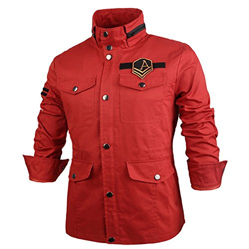 Slim Coat Thick Jacket Men's Winter Coat Rider Military Orange Fit J02 6wExI8Bx