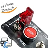 Dromedary Engine Start Push Button 3 Toggle Racing Panel Car Ignition Switch 12V