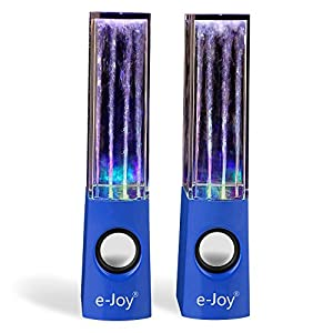 e-Joy Water Dancing Music Box Audio Player Computer Speakers, Blue water speaker _blue