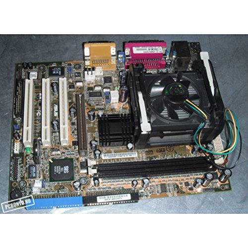 Asus P4S333-VM Socket 478 motherboard. SiS650 chipset. 3 PCI, 1 4X AGP and 2 DDR DIMM slots. On-Board audio, video and LAN. (Motherboard Socket Asus 478)