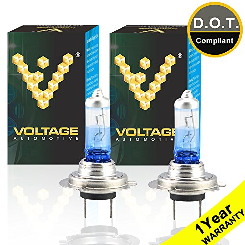Voltage Automotive H7 Headlight Bulb Night Eagle 40 Percent Brighter Professional Upgrade For Car Motorcycle (PAIR) - Replacement for High Beam Low Beam Fog Lights