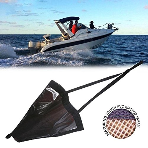 Ywillink Heavy Duty PVC Sea Anchor Drogue Sail Drifting Brake Sock Parachute Brake Accessories Suit Boat