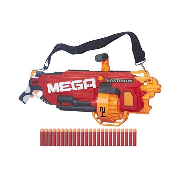 S.I. TOYS Nerf N-Strike Mega Mastodon Blaster and Foam Play Gun Toy (Multicolour)