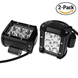 4 Inch Led Fog Light Bar 2PCS 18W Outdoor Led Light Bar 6500K Flush Mount Led 3060LM(2×1530) Night Driving Lights Spot Light Bar for 4X4 Cabin Boat Ship SUV ATV Deck Mining(18monthes Warranty)