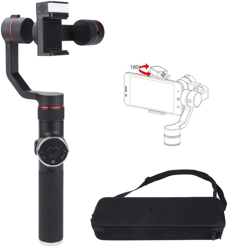 Lightweight Handheld Gimbal with Flash Stabilizer Holder for Smartphones Action Cameras Cosiki Phone Video Stabilizer