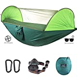 CAMDEA Camping Hammock with Mosquito Net for 2 Person, Ultra Lightweight Portable Hammock, Camp Single/Double Hammock with Bug Net, Windproof Hammock Tent Swing for Sleeping, Garden, Travel, Outdoor