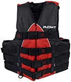 Flowt 40402-2-L/XL Extreme Sport Life Vest, Type III PFD, Closed Sides, Red, Large / Extra Large, Fits chest sizes 40'' - 50''