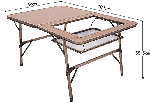 Dx Table Pliable Table Pliante Double En Aluminium Portable