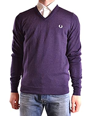 Men's MCBI128177O Purple Wool Sweater