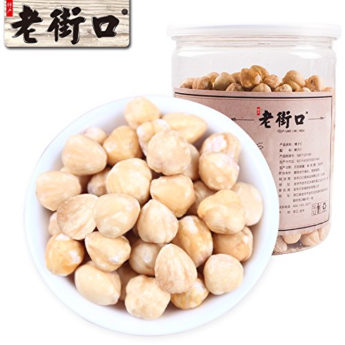 Aseus Chinese delicacies [Old Street - original hazelnut kernel 400g] Pregnant Women snacks, without adding nuts, baked canned