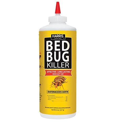 Amazoncom Harris Hde 8 Bed Bug Powder Diatomaceous Earth 8oz