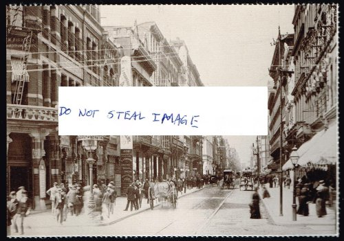 Chestnut Street Looking West From 8th Street Ca. 1889 Philadelphia ()