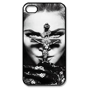 YUAHS(TM) Unique Phone Case for Iphone 4,4S with Madonna YAS051662
