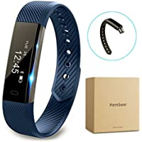 Fitness tracker watch, Hembeer V1 Smart Band with Step Tracker, Pedometer Bluetooth Bracelet Activity Tracker/ Sleep Monitor, Calories Track Sweatproof Health Band for iPhone & Android phones