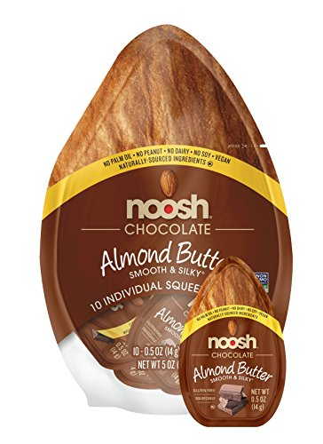NOOSH Almond Butter (Chocolate, 10 Count) - All Natural, Vegan, Gluten Free, Soy Free
