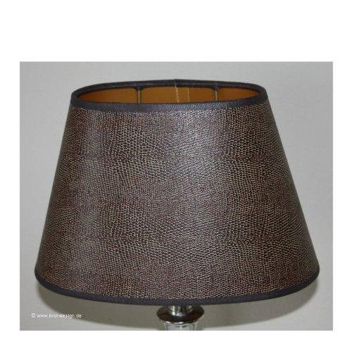 3725222 25–15–15 iguane-abat-jour ovale imitation cuir marron foncé e27 Light & Lifestyle