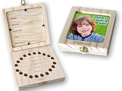 Caja de madera con portafoto para guardar los dientes de leche ...