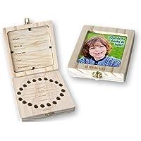 Caja de madera con portafoto para guardar los