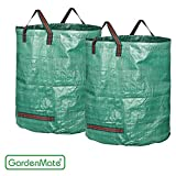 GardenMate 2-Pack 106 Gallons Garden Waste Bags PROFESSIONAL - Double Layer Bottom - Reusable Bag