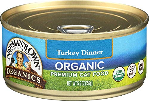 Newman's Own Organics Turkey Dinner Dinner For Cats, 5.5-Oz. (Pack Of 24) (Newman Own Cat Food)