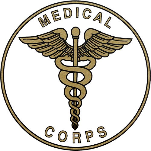 Army Medical Corps Insignia Clear Decal Mitchell Proffitt D50-A U.S