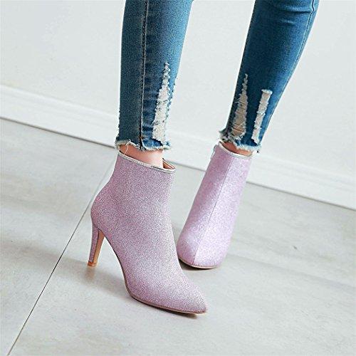 laterale Suggerimento della settimana Stivali tacchi per bene elegante nuda e con ZQ alti zip i purple Stivali QX Opwx5qWgf