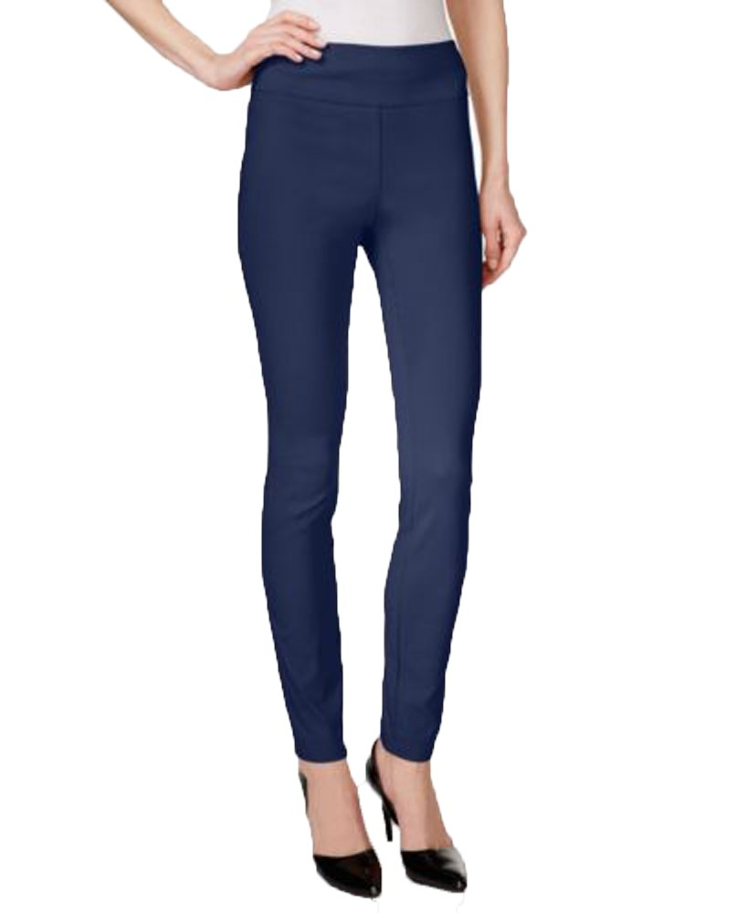 Style & Co.. Womens Tummy Control Comfort Waist Long Leggings Navy M