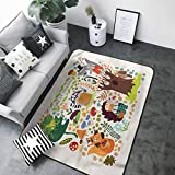 Polyester Non-Slip Doormat Rugs Colorful