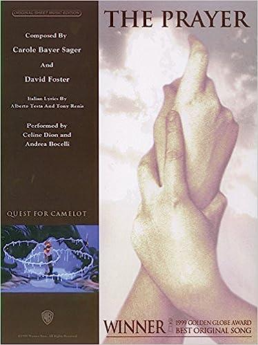 The Prayer: Piano/Vocal/Chords, Sheet (Original Sheet Music Edition ...