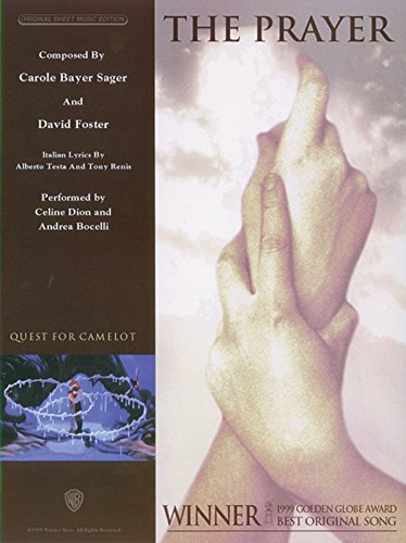 Celine Dion Lyrics (The Prayer: Piano/Vocal/Chords, Sheet (Original Sheet Music Edition) (Italian and English Edition))