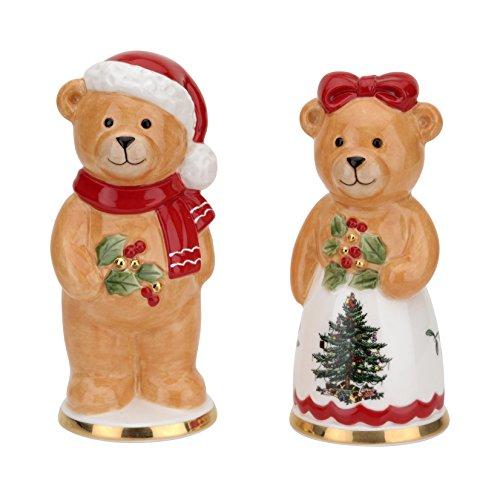 Spode Christmas Tree Salt - Spode Christmas Tree Teddy Bear Salt & Pepper Set