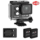 SJCAM SJ7 Star 4K Action Camera WIFI Sports camera 16MP GYRO image stabilization with 166 Wide-angel 2.0Inch Touch Screen Action Cam operated Playback supports External Microphone+Extra battey+charger