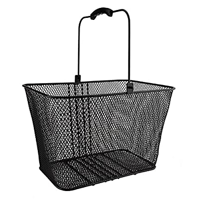 SUNLITE DLX Mesh Lift-Off Front Basket w/Bracket, Black : Bike Baskets : Sports & Outdoors