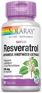 Solaray Super Resveratrol w/Pterostilbene, Veg Cap (Btl-Plastic) 250mg | 30ct