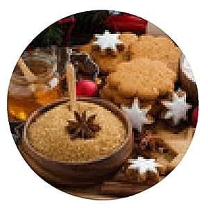 alfombrilla de ratón galletas de Navidad y los ingredientes para hornear - ronda - 20cm