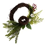 SM SunniMix Home Decoration Simulated Garland Handmade Bird Nest Berry Wreath Door Garland Wedding Party Decoration