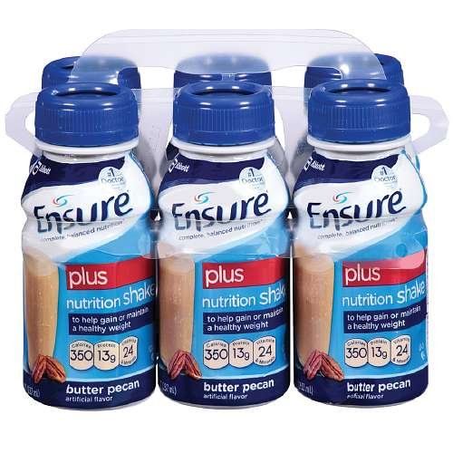 Ensure Plus Ready To Drink Nutrition Shake 8 Oz, 6 ea (Butter Pecan, 3 Pack)