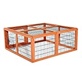 "Pawhut 46"" Wooden Outdoor Rabbit Hutch With Run"