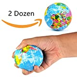 #6: Koogel Globe Squeeze Stress Balls Earth Ball Stress Relief Toys Therapeutic Educational Balls Bulk 2 Dozen 3