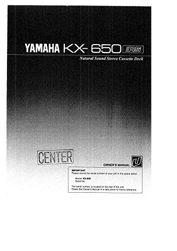Yamaha KX-650 Cassette Deck Owners Instruction Manual for sale  Delivered anywhere in USA