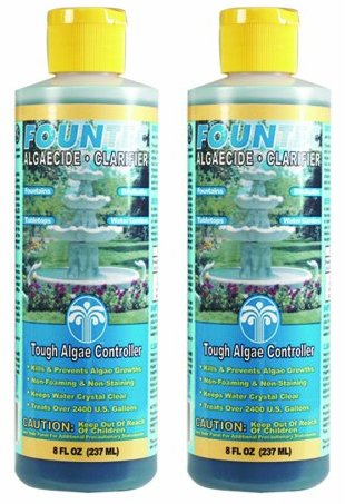EasyCare 2 PACK FounTec Algaecide and Clarifier - 8 oz, Yellow (8 Oz Pond Water)