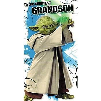 Amazoncom Star Wars Yoda Birthday Card Office Products