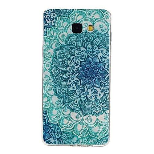 inShang Samsung Galaxy A5(2016) Funda y Carcasa para Samsung Galaxy A5(2016) case Samsung Galaxy A5(2016) móvil, Ultra delgado y ligero Material de TPU, carcasa posterior (Back case) con , blue flower