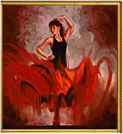 SHFXX Bailarina de Flamenco española Pintura de Mujer Latina ...