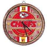 Kansas City Chiefs NFL Barrel Wall Clock