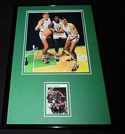 80d8255e2 Robert Parish Signed Framed 11x17 Photo Display Celtics w Bill Walton  K  McHale - Autographed NBA Photos at Amazon s Sports Collectibles Store