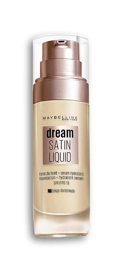 Maybelline New York Fond de Teint Dream Satin Liquid FPS13 - 21 Beige Doré  30 ml 88f5c3f5303