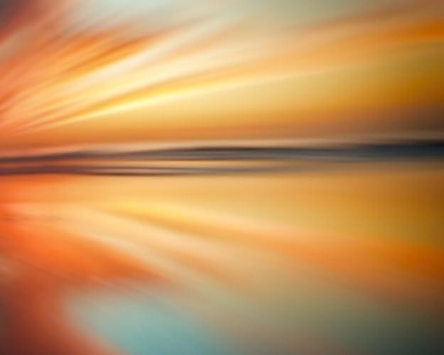 Amazon.com: Ocean Beach Sunset Abstract Wall Art Decor Modern ...